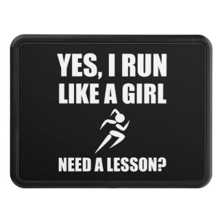 Like A Girl Running Trailer Hitch Covers