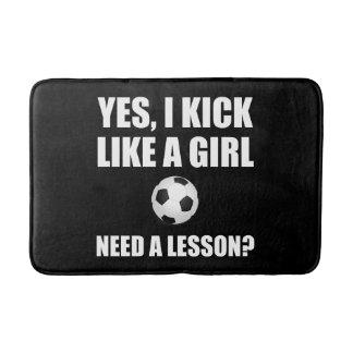 Like A Girl Soccer Bath Mat