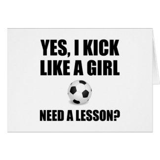 Like A Girl Soccer Card