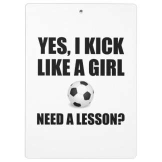 Like A Girl Soccer Clipboards