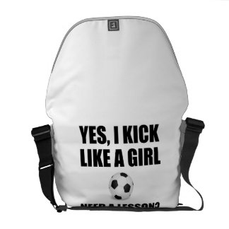 Like A Girl Soccer Messenger Bag