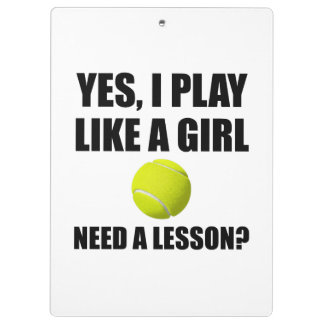 Like A Girl Tennis Clipboards
