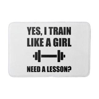 Like A Girl Train Bathroom Mat