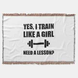 Like A Girl Train Throw Blanket