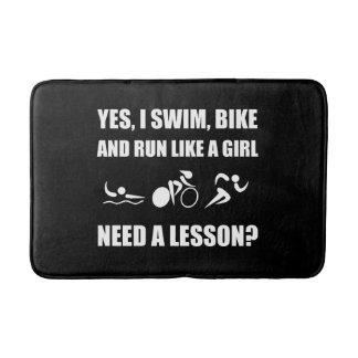 Like A Girl Triathlon Bath Mat