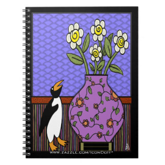 Like A Penguin To Daffodils Spiral Notebook