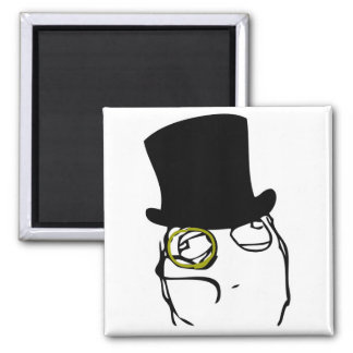 Like a Sir Rage Face Meme Square Magnet