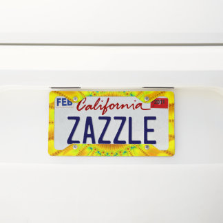 Like A Sunflower License Plate Frame