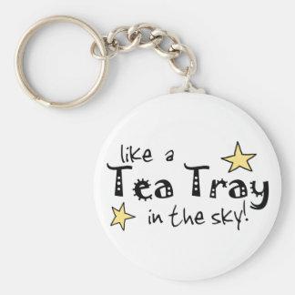 Like a tea Tray in the Sky Keychain