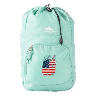 Like an American. USA grunge flag Backpack