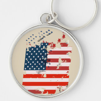 Like an American. USA grunge flag Keychain