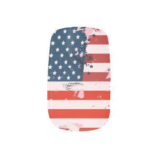 Like an American. USA grunge flag Minx Nail Art