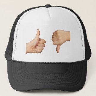 Like and dislike trucker hat