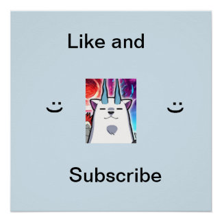 Like and sub poster