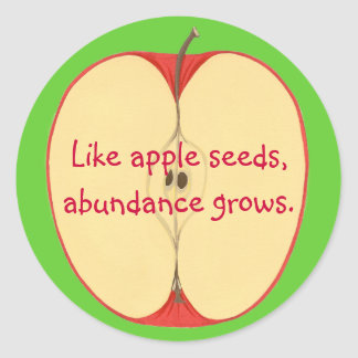 Like apple seeds, abundance grows, Stickers