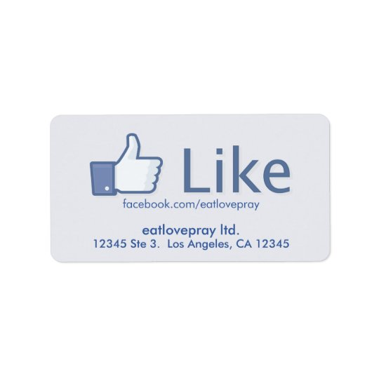 Like Button - Promotional Address Labels
