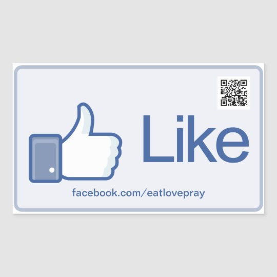 Like Button - Promotional stickers with QR Code