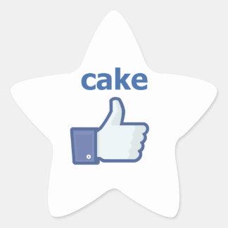 LIKE cake Star Sticker