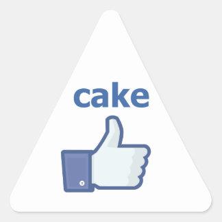 LIKE cake Triangle Sticker