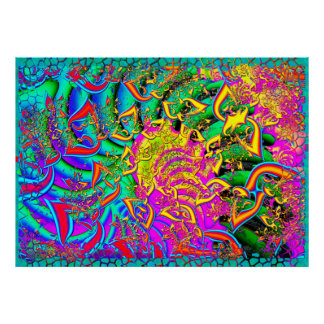 Like Candy Psychedelic 3D Fractal Poster