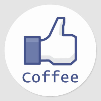 Like Coffee Classic Round Sticker