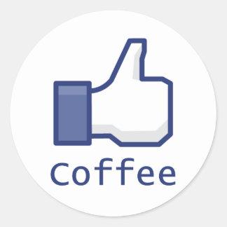 Like Coffee Round Sticker