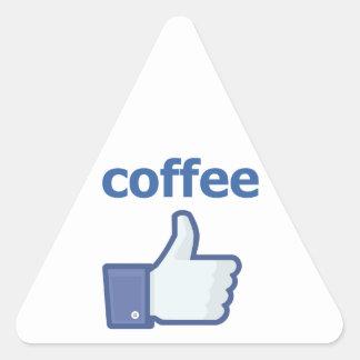 LIKE coffee Triangle Sticker