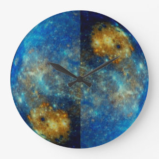 LIKE DAY AND NIGHT IN OUTER SPACE LARGE CLOCK