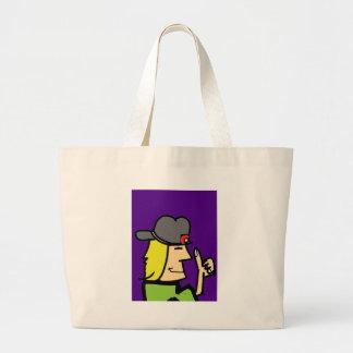 like dude ccartoon guy large tote bag