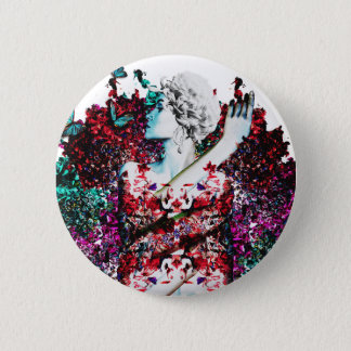 Like Flowering Flowers 2 Inch Round Button