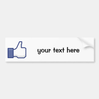 Like Hand - FB Thumbs Up Bumper Sticker