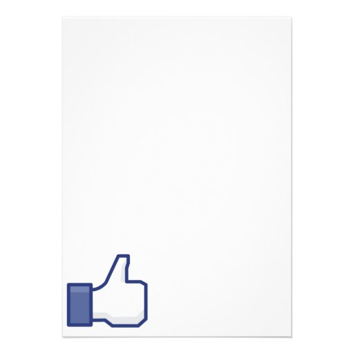 Like Hand - FB Thumbs Up Personalized Invites