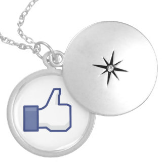 Like Hand - FB Thumbs Up Round Locket Necklace