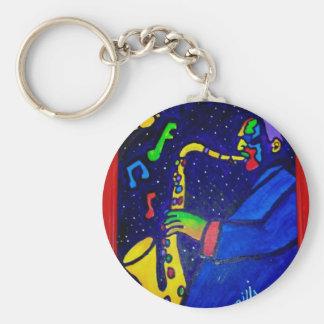 Like Jazz Man by Piliero Basic Round Button Keychain