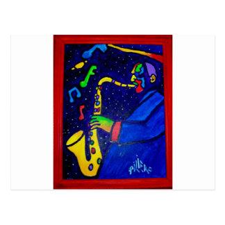 Like Jazz Man by Piliero Postcard