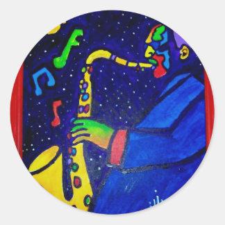 Like Jazz Man by Piliero Round Sticker