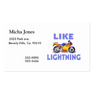 Like Lightining Street Bike Business Card