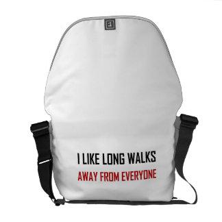 Like Long Walks Away From Everyone Messenger Bag
