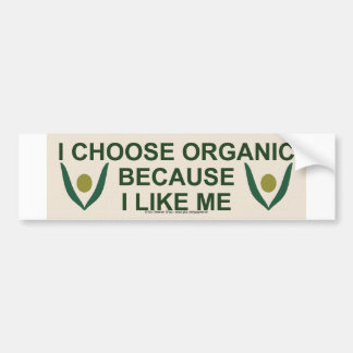 Like me organic bumper sticker