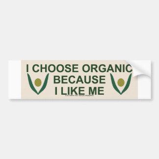 Like me organic bumper sticker