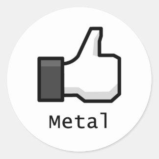 Like Metal Stickers