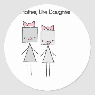 Like Mother Round Stickers