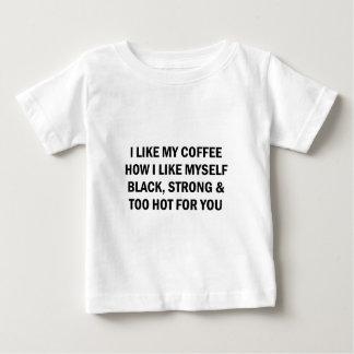 Like My Coffee Baby T-Shirt