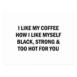 Like My Coffee Postcard