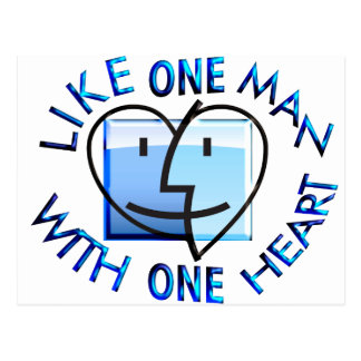 Like one Man With one Heart.png Postcard