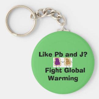 Like Pb and J?   Fight Global Warming Keychain