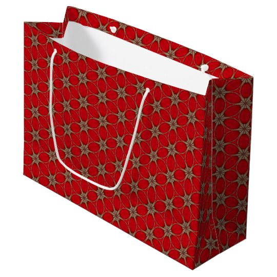 Like Red Flower Pattern Large Gift Bag