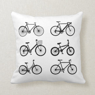 Like riding a bike throw pillow