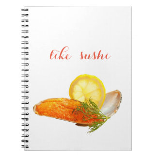 like sushi notebook