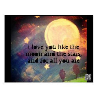 like the moon and stars postcard